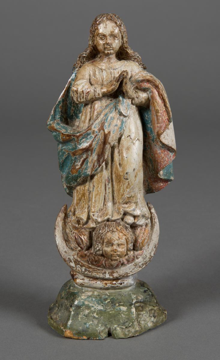 Vierge De l'Assomption, Espagne Ou Portugal, XVIIe Siècle