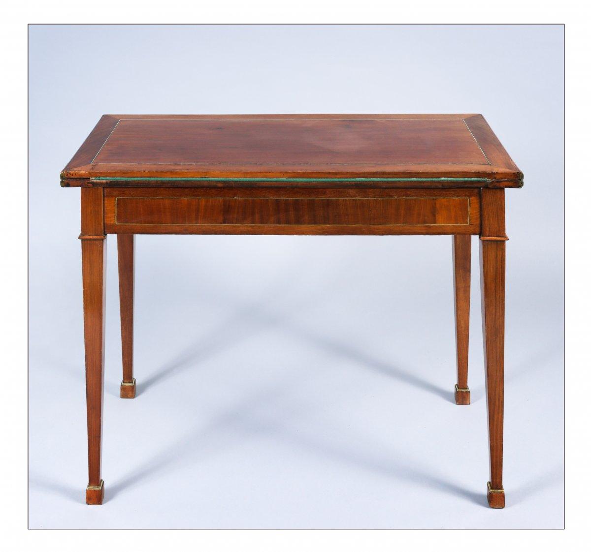 Table à jeux à plateau en portefeuille, époque XVIIIe siècle-photo-4