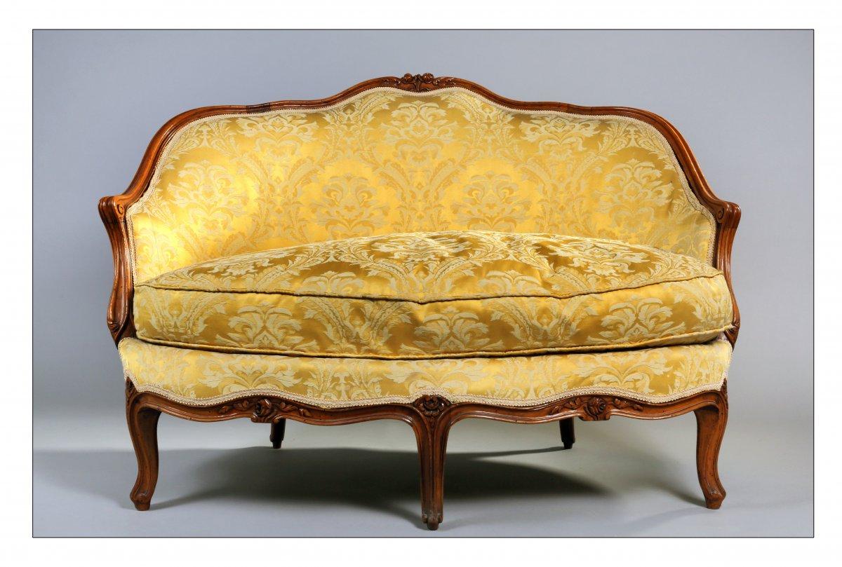 Canapé de forme corbeille, Louis XV