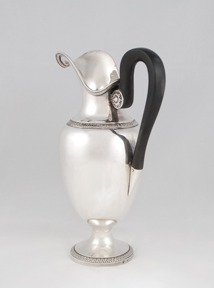 Bourgeois Goldsmith, Paris 1819-1838, Sterling Silver Ovoid Ewer