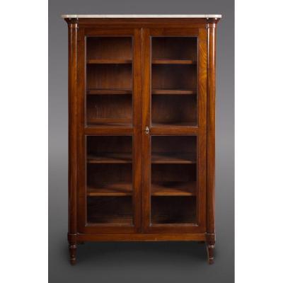Meuble vitrine / bibliothèque estampillé STÖCKEL, époque Louis XVI