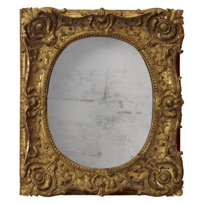 Cadre Monté En Miroir, époque Louis XV