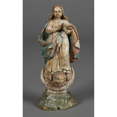 Virgin Of The Assumption, Spain Or Portugal, 17th Century