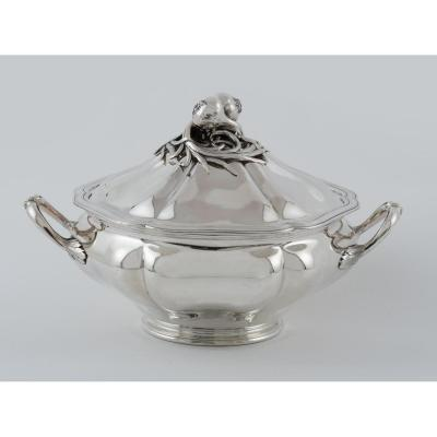 Silver Soup Tureen Covered, By Debain & Flamant