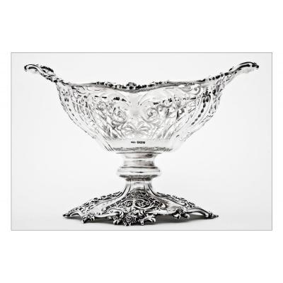 Sterling Silver Cup By James Dixon & Sons, Sheffield, Second Part Of 19th Century