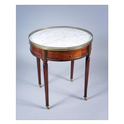 Table Bouillotte en acajou d'époque Louis XVI