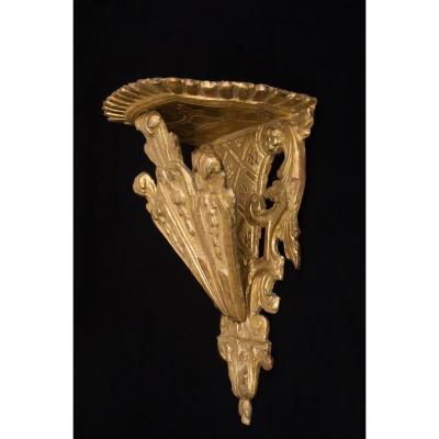 Console d'applique en bois sculpté et doré, Italie, débuts du XVIIIe siècle