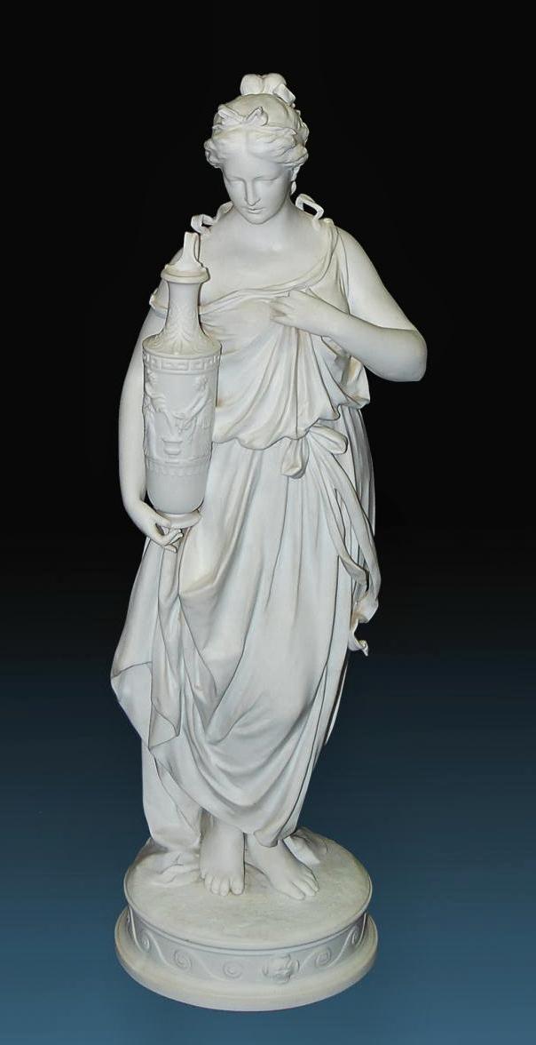Manufacture ImpÉriale De Porcelaine Saint-pétersbourg Alexandre II   1876   Figure De Femme