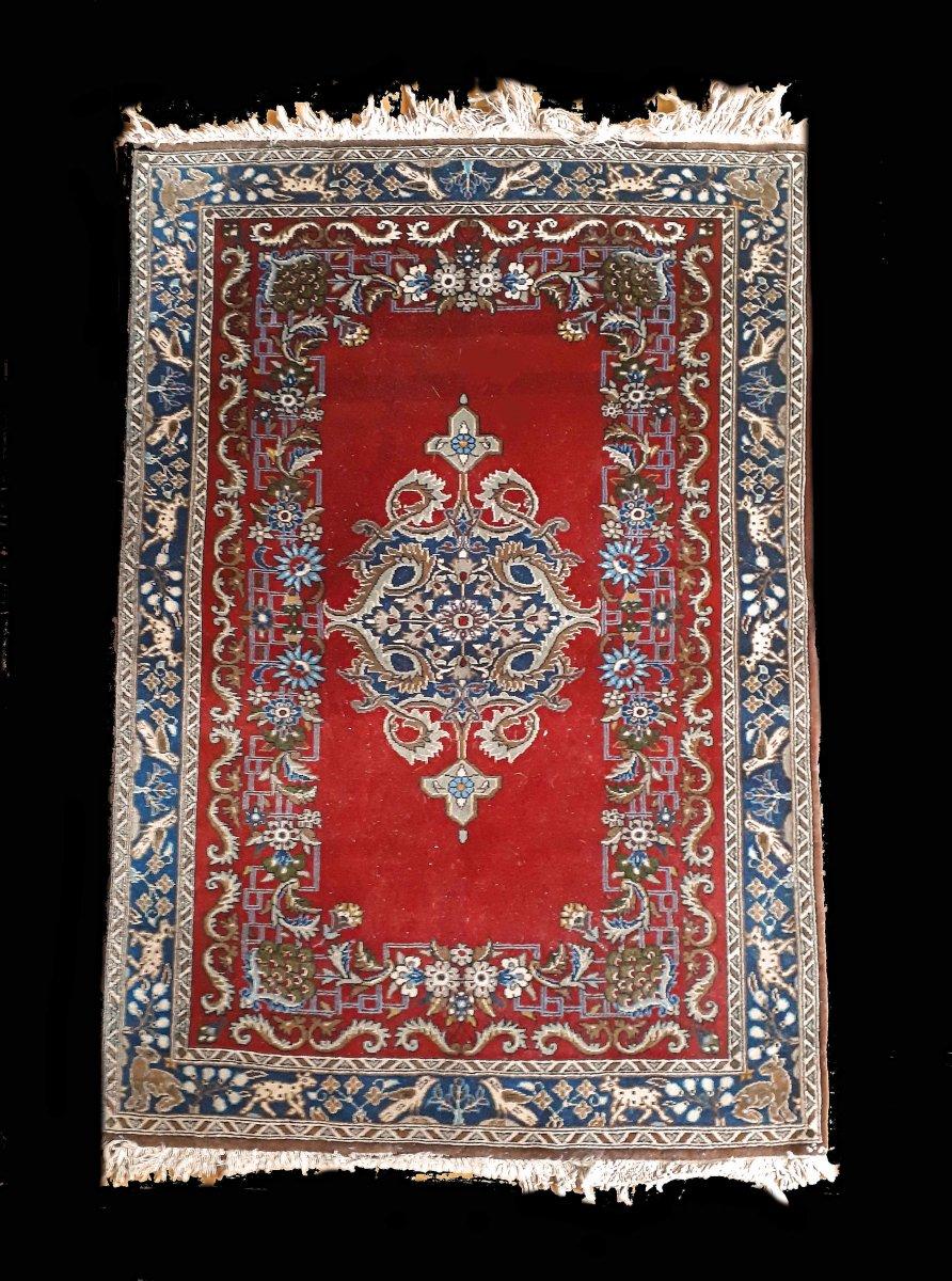 Tapis Kashan, 85x119 Cm Laine, 60-70 Ans