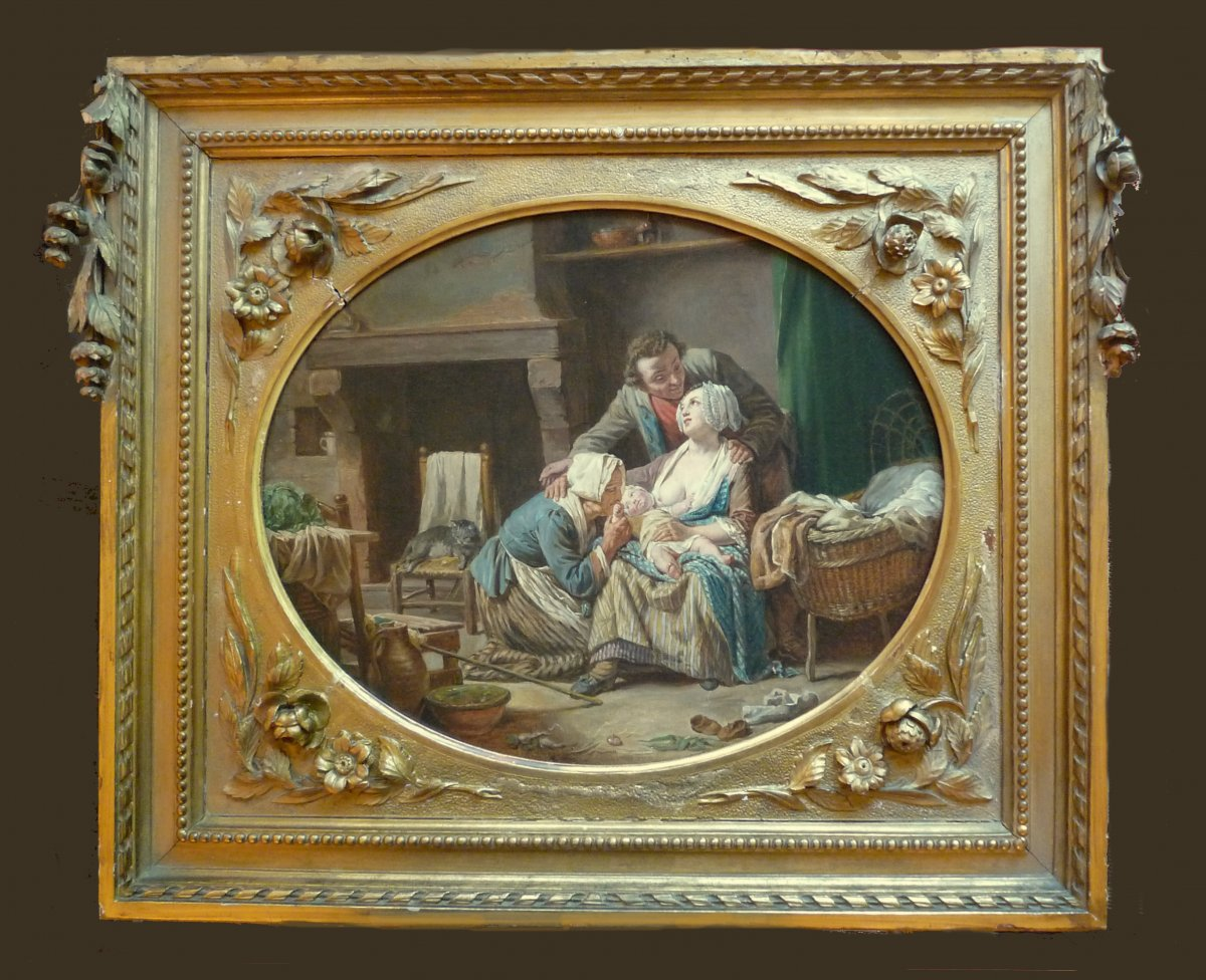 Nicolas-bernard Lépicié (paris 1735-1784) The Peaceful Union Oil On Canvas