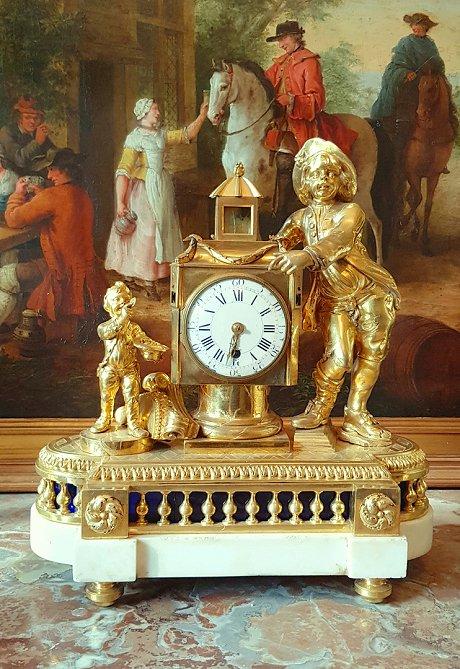 Louis XVI Magic Lantern Pendulum Circa 1780. H. 38 Cm