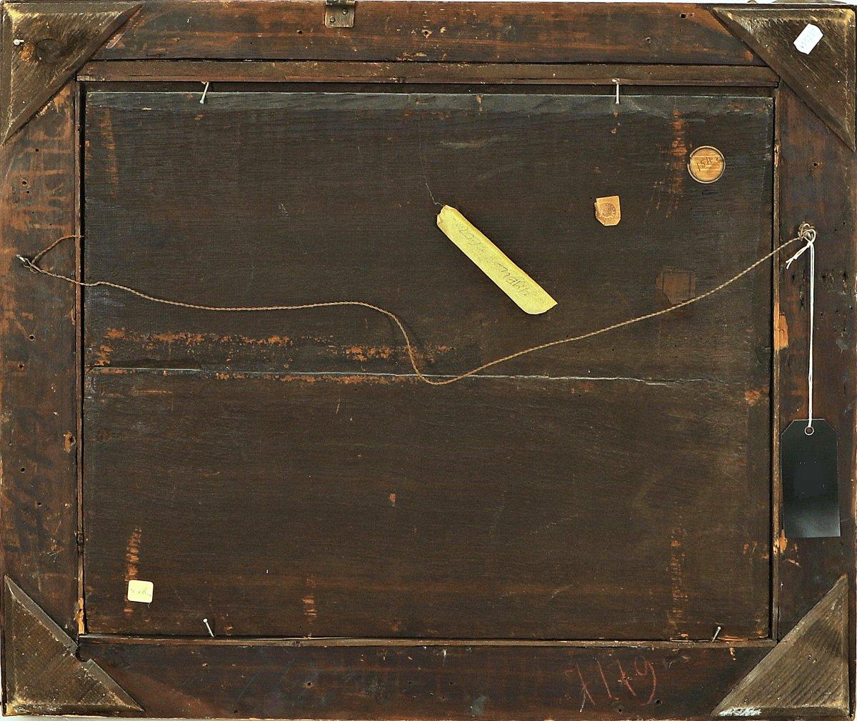 Hendrick Mommers 1623-1693     Pastorale Paysage Avec Des Bergers   Huile Sur Panneau-photo-1