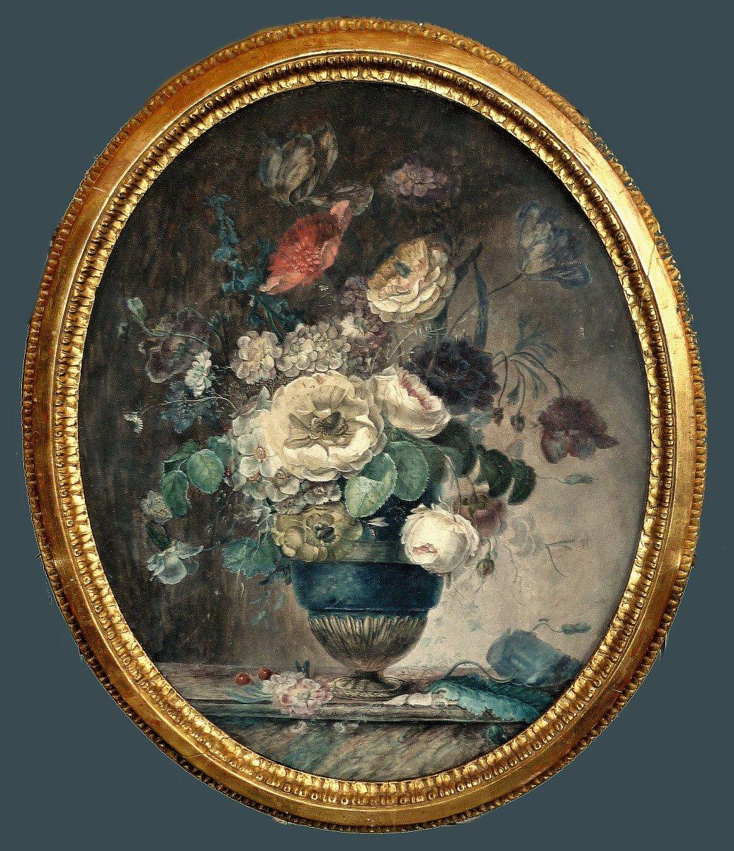 Anne Brettingham De Carle 22 Novembre 1764-30 Septembre 1815   Nature Morte Florale   Gouache