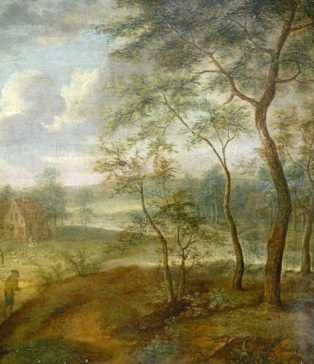 Izaack Van Oosten (1613-1661) Attr.  Paysage  Signé  Provenance : Palais Thott, Copenhague-photo-4