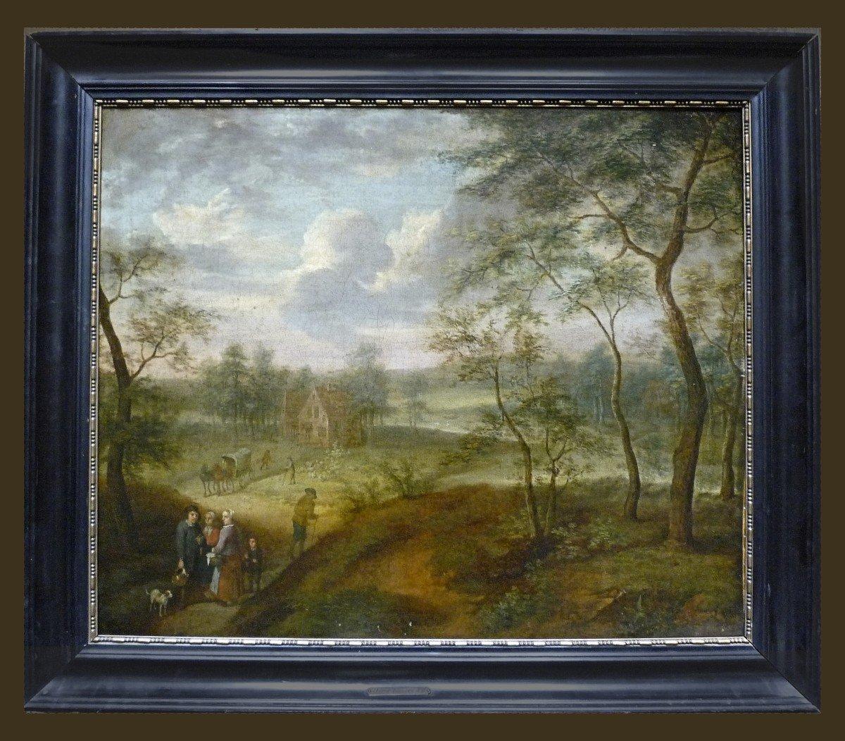 Izaack Van Oosten (1613-1661) Attr.  Paysage  Signé  Provenance : Palais Thott, Copenhague