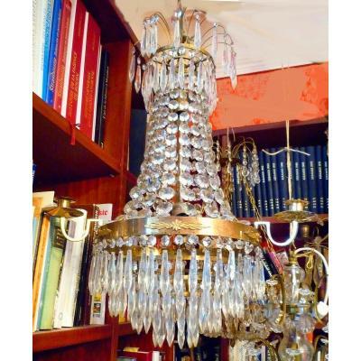 Cristal Lustre Empire 1810 H. 73 Cm