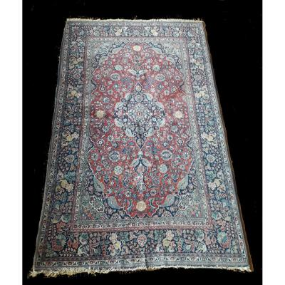 Carpet, Wool, Kashan, Antique, Approx. 100 Years, 135 X 214 Cm