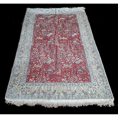 Carpet, Ghom, Silk, 60-70 Years, 154x253 Cm