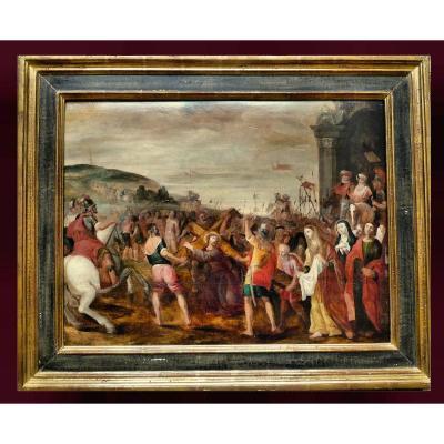 Frans Francken II (1581-1642) Attr.   La Route Du Calvaire