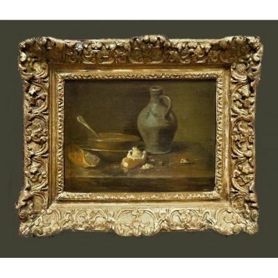 Jean Siméon Chardin 1699-1779 Attr. Still Life Oil On Canvas 24.5 Cm X 33 Cm