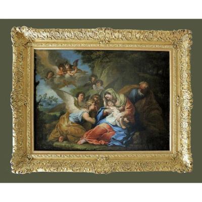 Andrea Casali (17 Novembre 1705 Civitavecchia - 7 Septembre 1784 Rome)   La Sainte Famille
