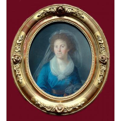 Johann Heinrich Wilhelm Tischbein 1751-1829   Portrait De La Comtesse S.   Pastel 26 X 31 Cm