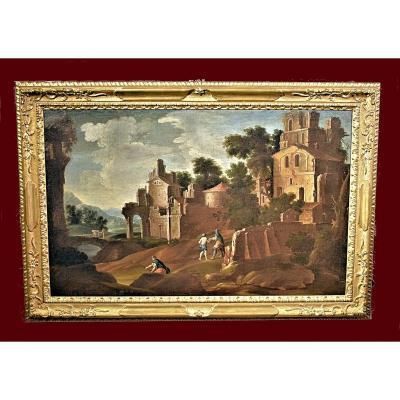 Bartolomeo Pedon (venise 1665-1732)   Paysage Architectural I