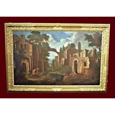Bartolomeo Pedon (venise 1665-1732)   Paysage Architectural  Ii