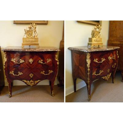 Louis XV Commode Stamped I. Dubois Around 1760 Jacques Dubois 1693-1763