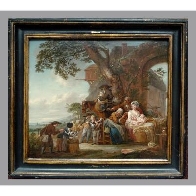 Louis Joseph Watteau Called Watteau From Lille (valenciennes 1731 - Lille 1798)