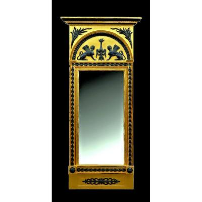 Miroir  Empire  Vers 1825     132 X 61 Cm