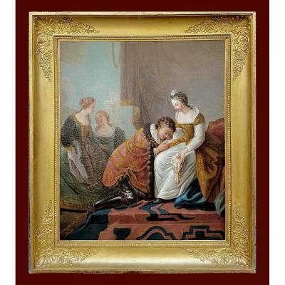 Etienne Jeaurat 1699-1789  Une Scène Galante Dans Une Ambiance Historique