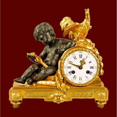 Louis XVI Clock Circa 1780. The Movement Signed Charles Dutertre In Paris