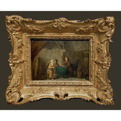 Marie Marc Antoine Bilcoq (paris 1755-1838)     Chez Le Diseur De Bonne Aventure