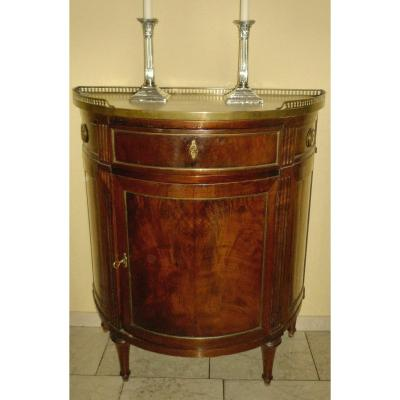 Louis XVI Half Moon Commode Ca. 1780 H. 86.5 Cm, W. 76 Cm, P. 38 Cm