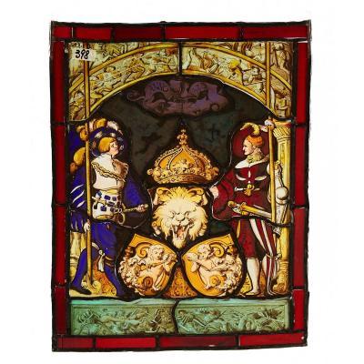 Verre Peinture 1520 Du Bien Ouest Suisse Moyen-age Renaissance