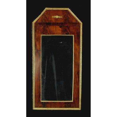 Miroir Empire Pyramide En Acajou Vers 1825   94 X 45 Cm