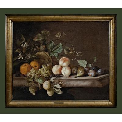 Barend Van Der Meer 1619 - Avant 1702  Nature Morte Des Fruits   Huile Sur Toile 64 X 76 Cm
