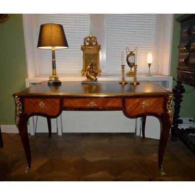 Louis XV Flat Desk Around 1760 Jean-louis Faizelot Delorme Attr.