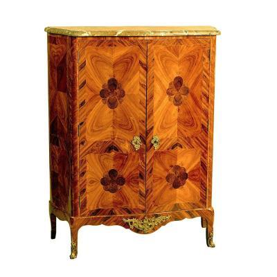 Buffet Louis XV Around 1750 Leonard Boudin Attr. 132x105x42 Cm Leonard Bodin 1735-1807