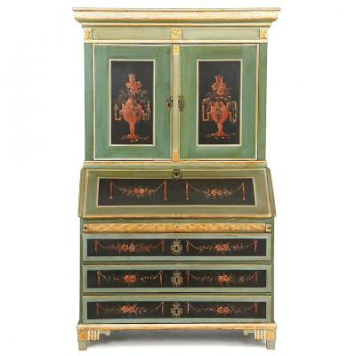 Cabinet Secrétaire Danemark   Louis XVI Vers 1780    H. 203 Cm. Br. 115 Cm. D. 56 Cm