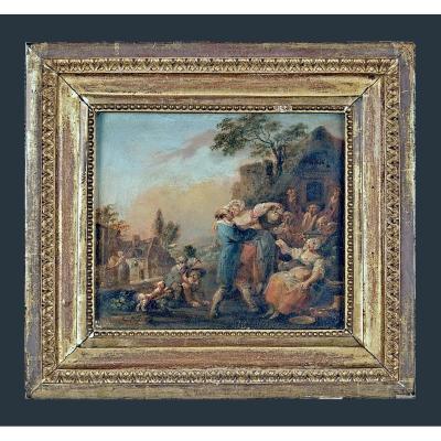 """François Louis Joseph Watteau appelé """"Watteau de Lille"""". (Valenciennes 1731 - Lille 1798) signé"""