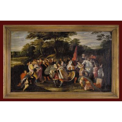 Frans Francken II (flanders, 1581-1642) And Workshop The Reconciliation Of Esau And Jacob