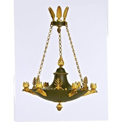 Lustre Empire Vers 1810 50 X 50 Cm