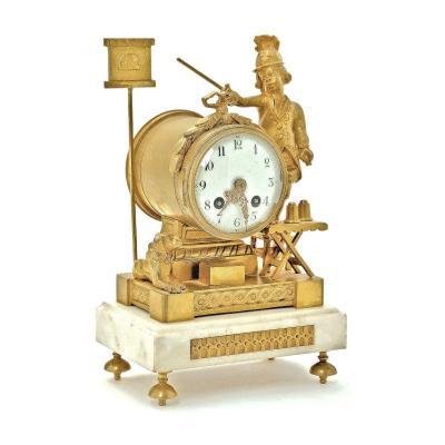 Pendule Horloge De Table Pendulette Louis XVI Vers 1780   H. 20,5 Cm. Br. 16 Cm. D. 10 Cm.