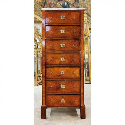 Weekly Commode Louis XVI Circa 1770 Stamped Phmewesen