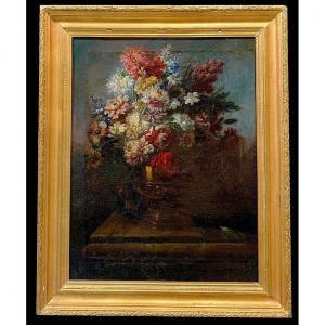Gasparo Lopez Actif à Florence Et à Venise Vers 1665-1732  Nature Morte Avec Des Fleurs  II