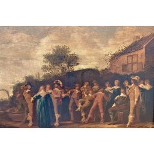 Dirck Hals 1592-1656  Une Entreprise élégante  Expertise Dr. Fred G. Meijer Amsterdam