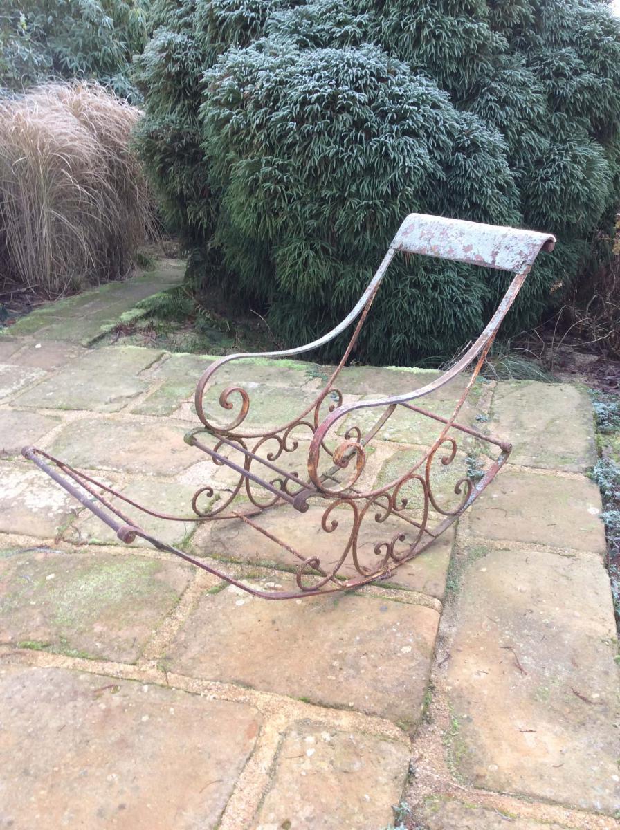 Fauteuil bascule antiquit s du jardin fontaines for Pro du jardin