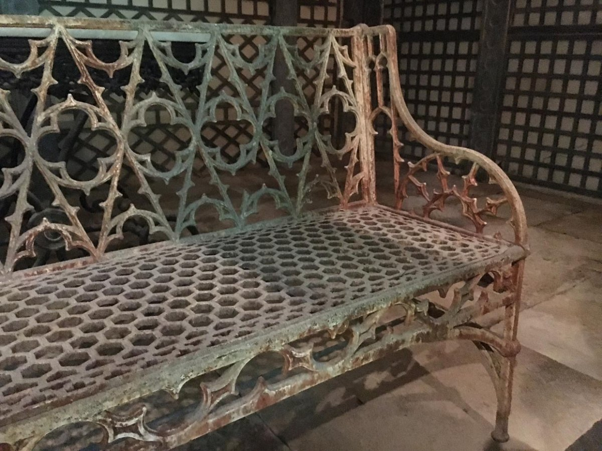 Set Of Two Nineteenth Gothic Benches
